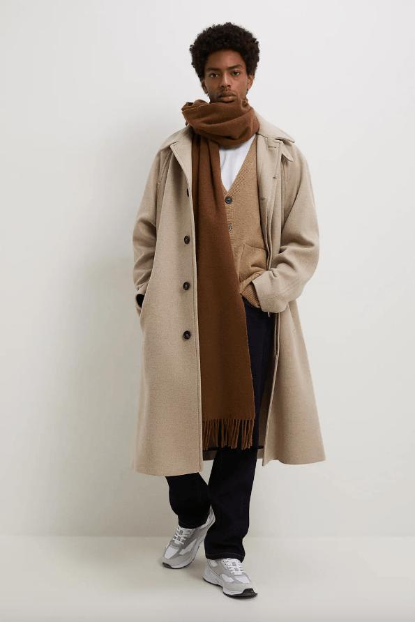 Abrigos de hombre Zara Invierno 2021 abrigo estructura tostado
