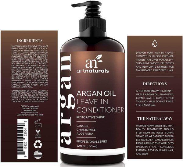 Los 10 mejores productos para el pelo rizado del hombre acondicionador ArtNaturals Argán