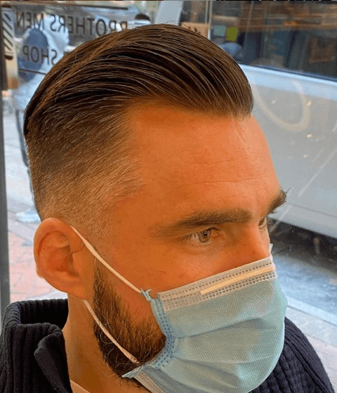Peinados y cortes de Pelo para hombres con poco pelo y con entradas crew cut hacia atrás