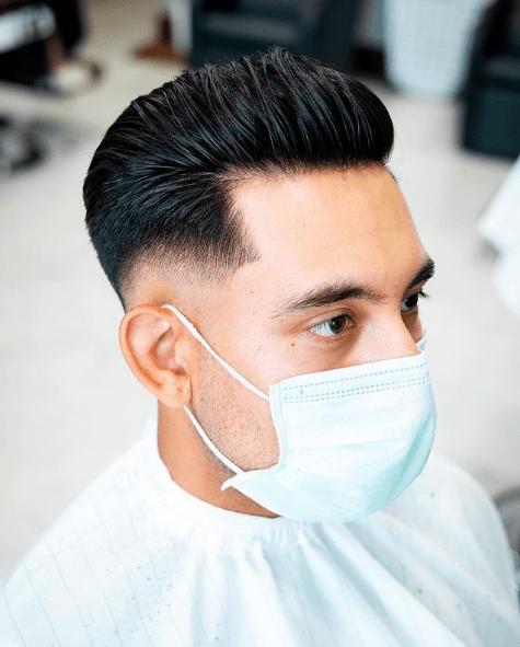 Peinados y cortes de Pelo para hombres con poco pelo y con entradas low fade tupe