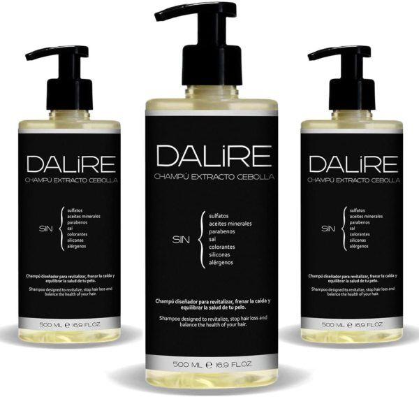 La review más completa del champú sin sulfatos de cebolla de Dalire pack envío