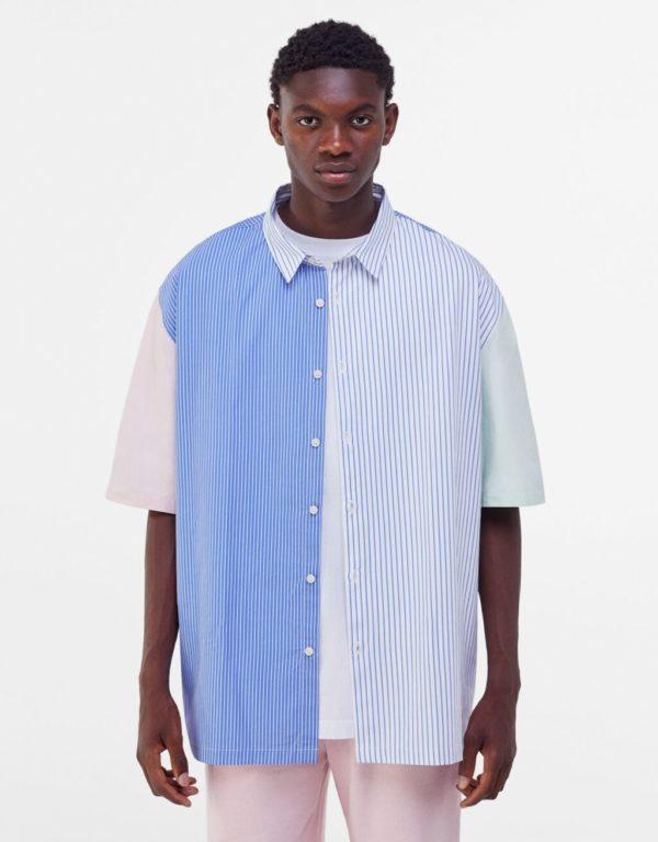 Catálogo Bershka hombre Verano 2021 camisa popelin