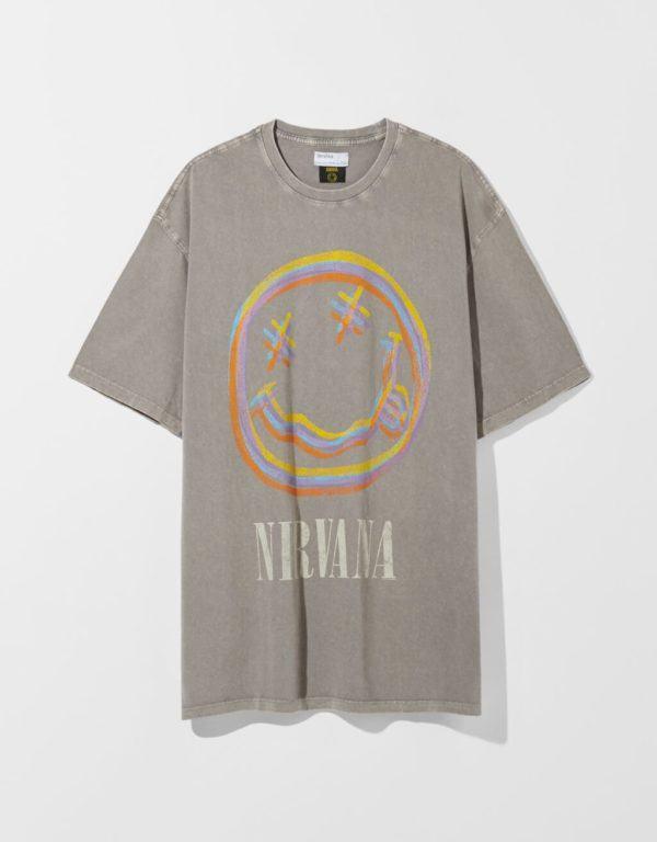 Catálogo Bershka hombre Verano 2021 camiseta Nirvana