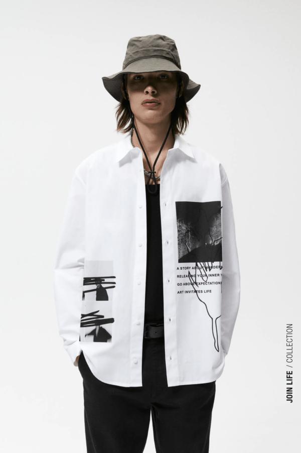 Moda Hombre | Otoño Invierno 2021 - 2022 Zara Camisa Estampado Fotográfico