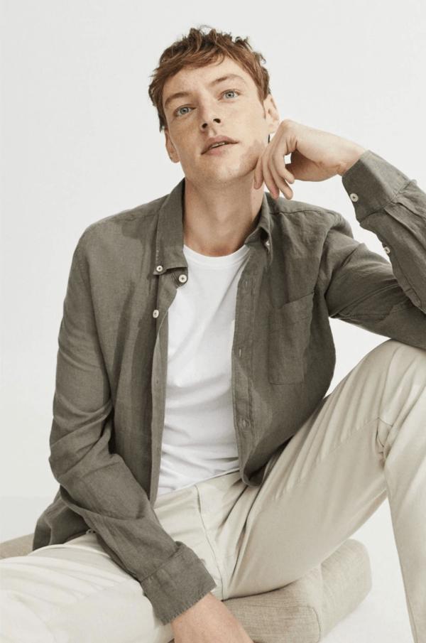 Las 10 Tendencias imprescindibles para hombre Primavera Verano 2021 camisa lino Ecoalf