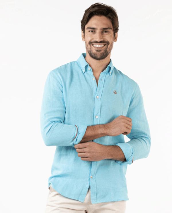 Las 10 Tendencias imprescindibles para hombre Primavera Verano 2021 camisa lino regular El Ganso