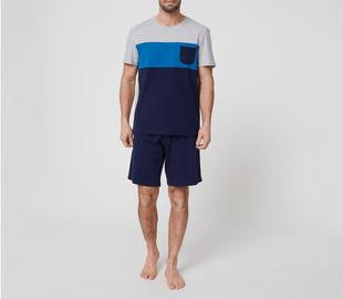 Catálogo Rebajas Alcampo Primavera Verano 2021 pijama de algodón In Extenso tricolores