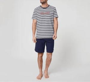 Catálogo Rebajas Alcampo Primavera Verano 2021 pijama de algodón In Extenso rayado