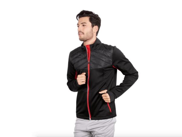 Catálogo Ropa Lidl Verano 2021 para hombre chaqueta softshell roja