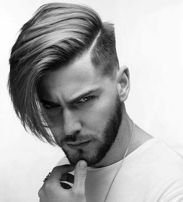 Cortes de pelo cara alargada 2022 para hombre Corte de pelo con flequillo largo