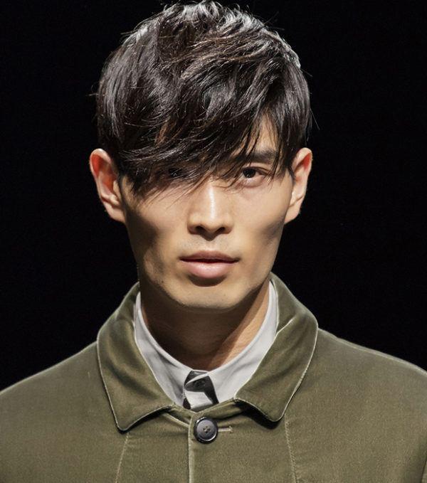 Cortes de pelo hombre primavera verano corte de pelo flequillo largo estilo coreano