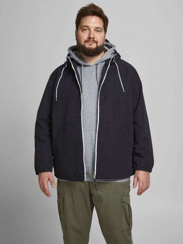 Ropa de moda para gordos gorditos hombres chaqueta informal