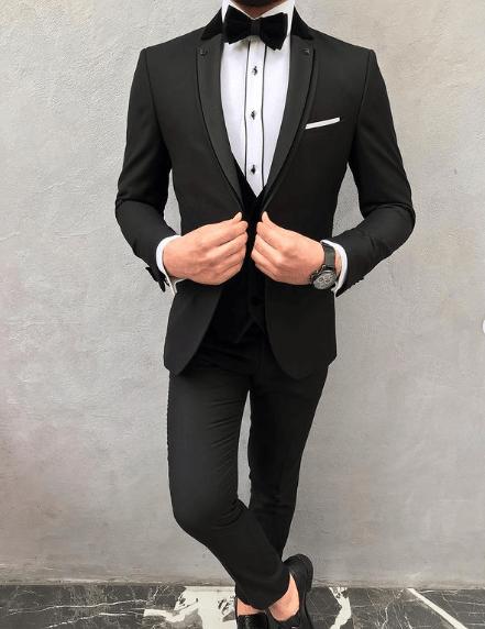 Trajes negros para novio 2021 camisa cowboy