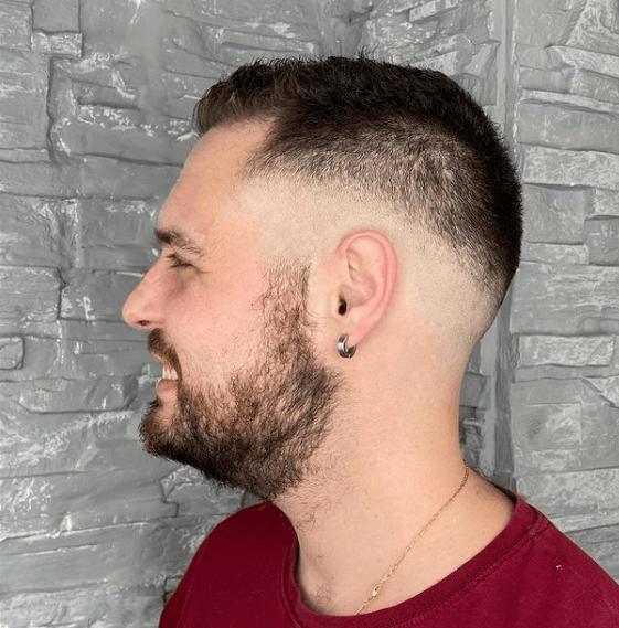 Cortes de Pelo Degradado Hombre para Pelo Corto 2022 barba