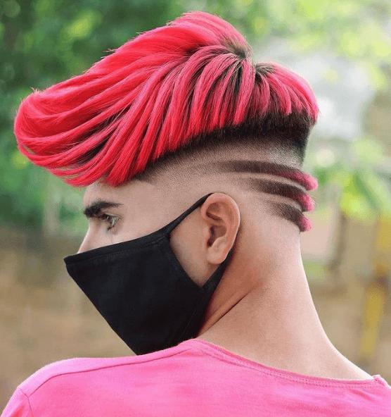 Cortes de Pelo Degradado Hombre para Pelo Corto 2022 rosa