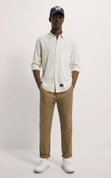 Cuáles son las diferencias entre un pantalón slim y un pantalón skinny y sus particularidades Zara slim chino temporada primavera verano 2021