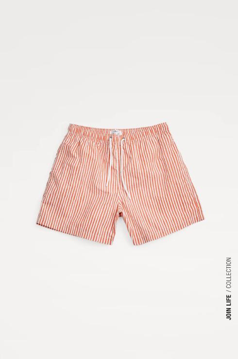 los mejores bañadores de hombre de Zara 2021 estampado rayas naranja