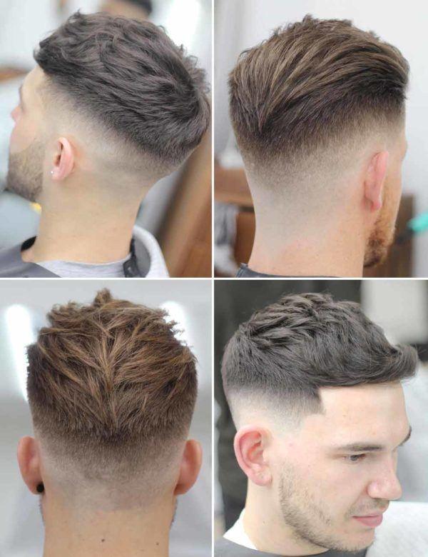 Los mejores cortes de pelo y peinados para hombre tendencia cabello corto flequillo subido