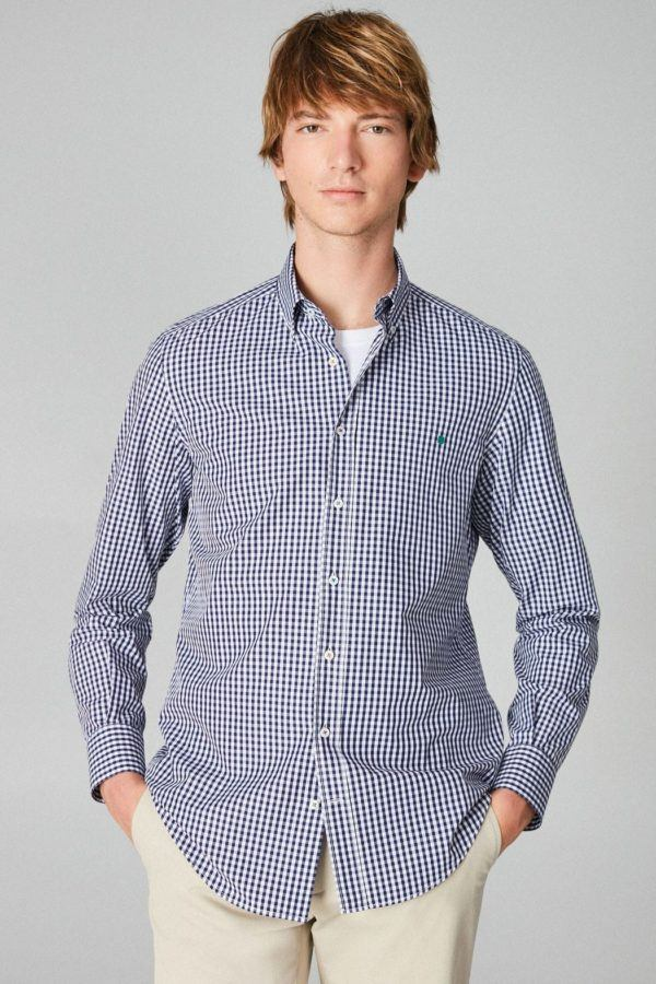 Purificacion garcia rebajas para hombre camisas cuadro vichy