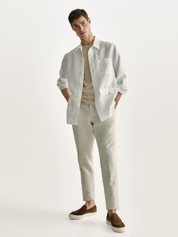 Como vestir elegantemente en verano look algodon massimo dutti