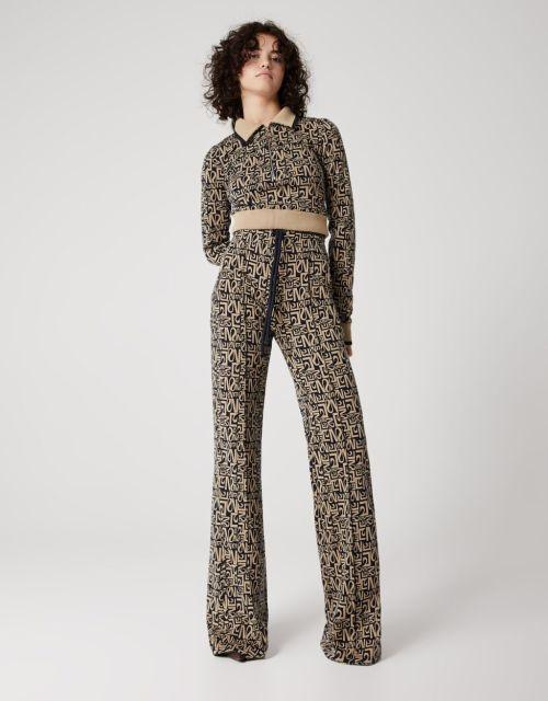 Pantalón mujer C. Tangana x Bershka modelo jacquard