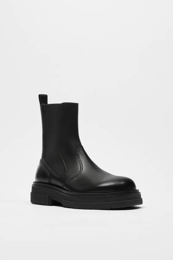 Zapatos zara hombre otoño invierno 2021 2022 bota piel piso track
