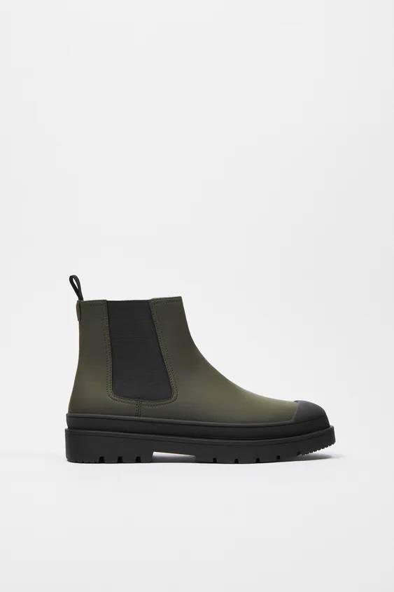 Zapatos zara hombre otoño invierno 2021 2022 botin chelsea engomado