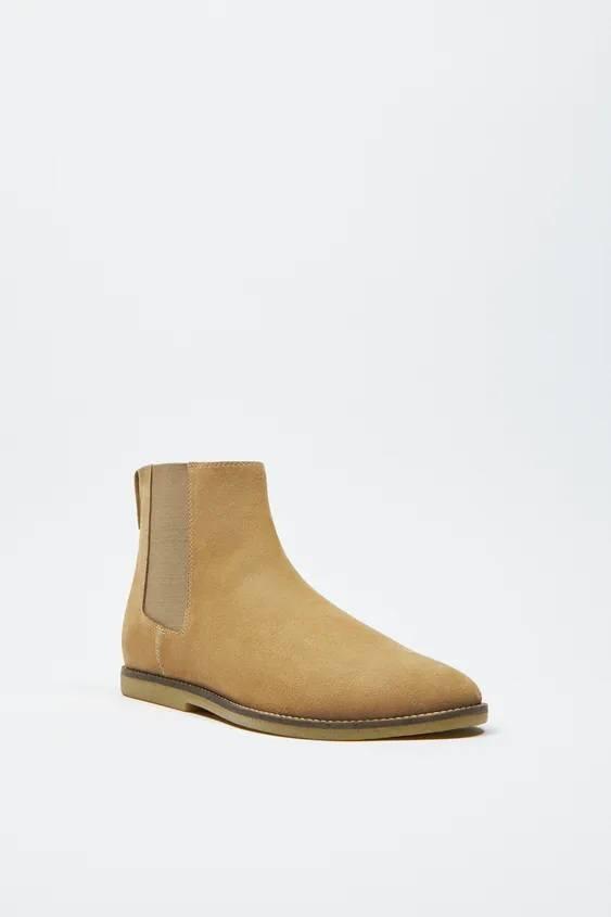 Zapatos zara hombre otoño invierno 2021 2022 botin chelsea serraje