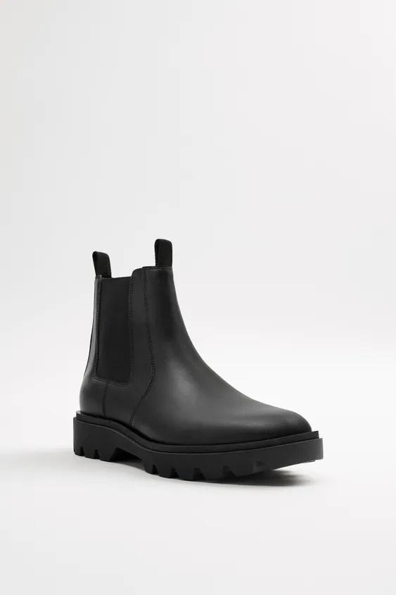 Zapatos zara hombre otoño invierno 2021 2022 botin chelsea track