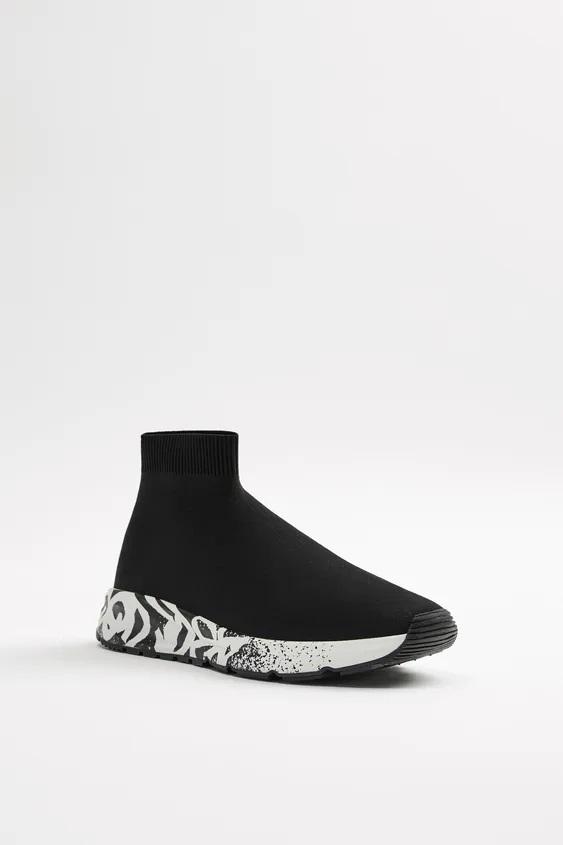 Zapatos zara hombre otoño invierno 2021 2022 botin deportivo calcetin