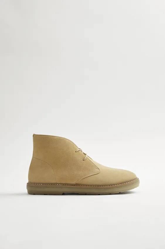 Zapatos zara hombre otoño invierno 2021 2022 botin desert serraje