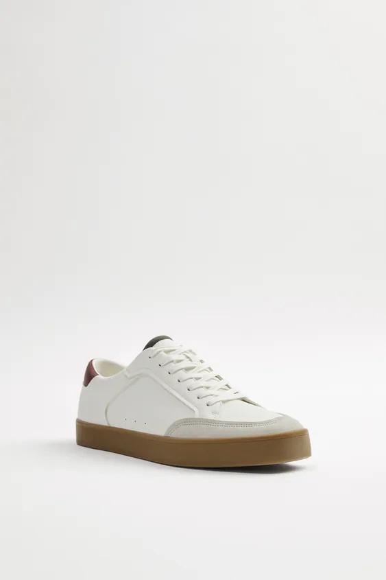 Zapatos zara hombre otoño invierno 2021 2022 zapatilla combinada