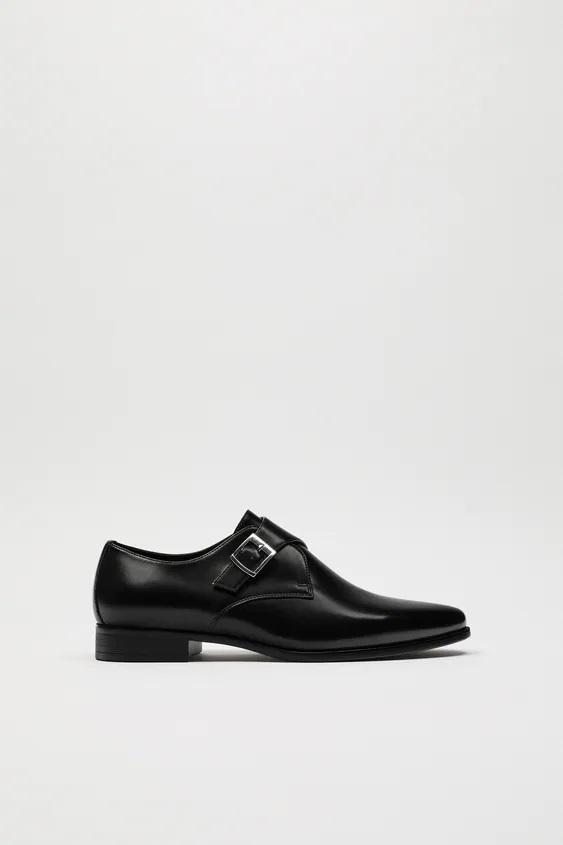 Zapatos zara hombre otoño invierno 2021 2022 zapato formal hebilla