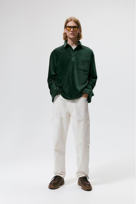 Camisas de zara para hombre camisa colores verde