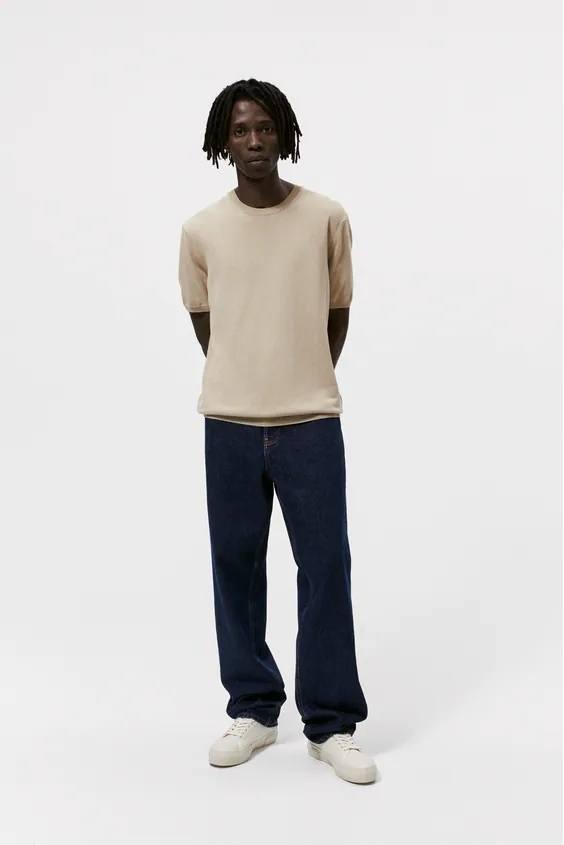 Camisetas de hombre zara camiseta beige