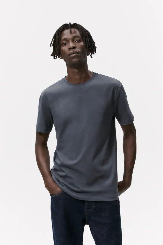 Camisetas de hombre zara camiseta slim fit