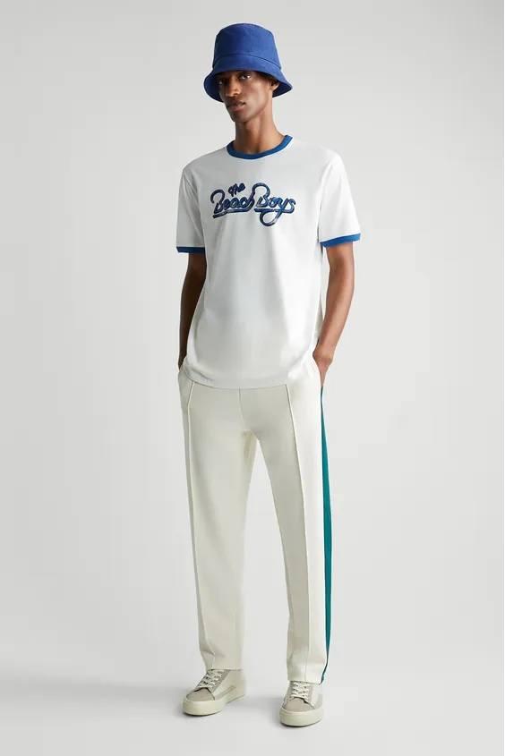 Camisetas de hombre zara cantantes beach boys