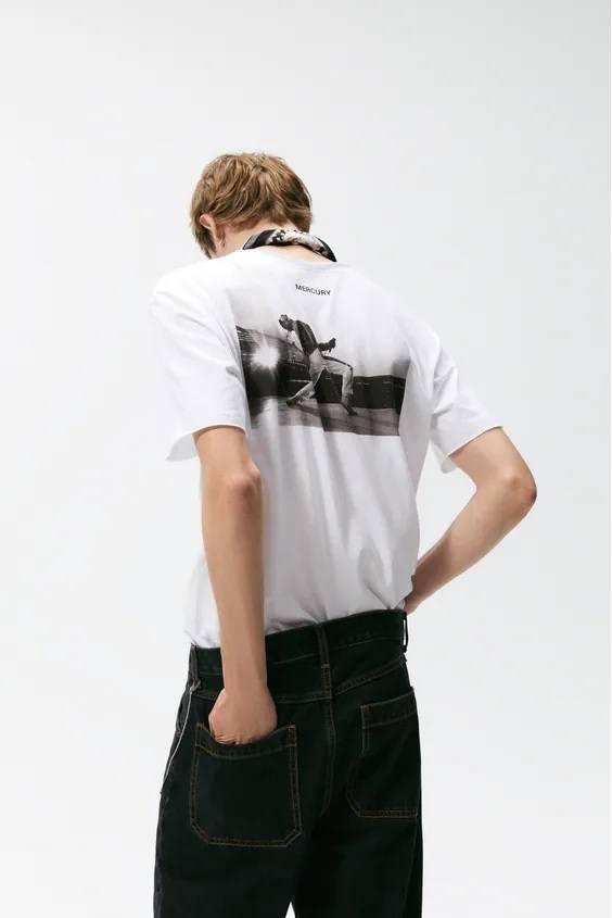 Camisetas de hombre zara cantantes freddie mercury