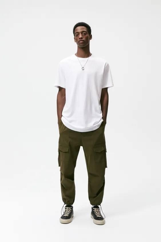 Catalogo zara hombre camiseta basica blanca