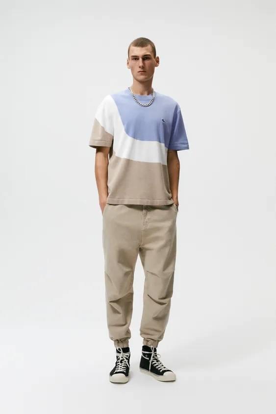 Catalogo zara hombre camiseta color block