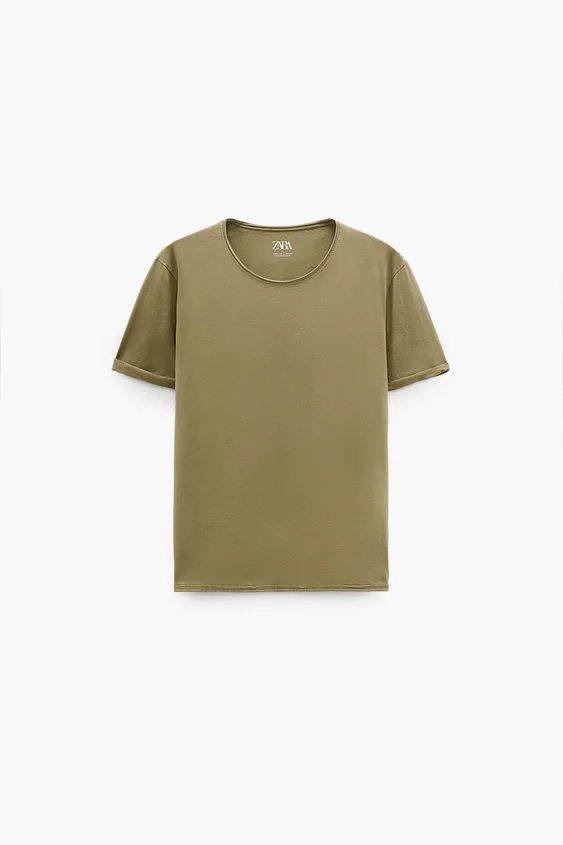 Catalogo zara hombre camiseta khaki