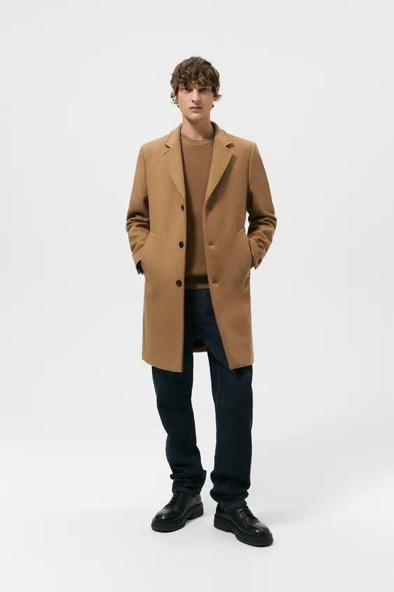 El catalogo de abrigos y chaquetas para hombre de zara abrigo camel
