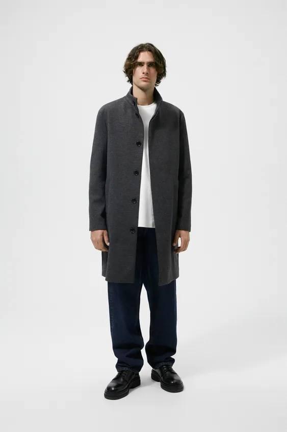 El catalogo de abrigos y chaquetas para hombre de zara abrigo estructura