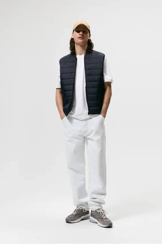 El catalogo de abrigos y chaquetas para hombre de zara chaleco acolchado