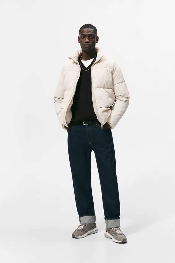 El catalogo de abrigos y chaquetas para hombre de zara chaqueta acolchada clasica