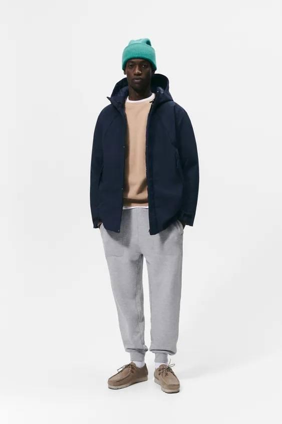 El catalogo de abrigos y chaquetas para hombre de zara chaqueta acolchada tecnica