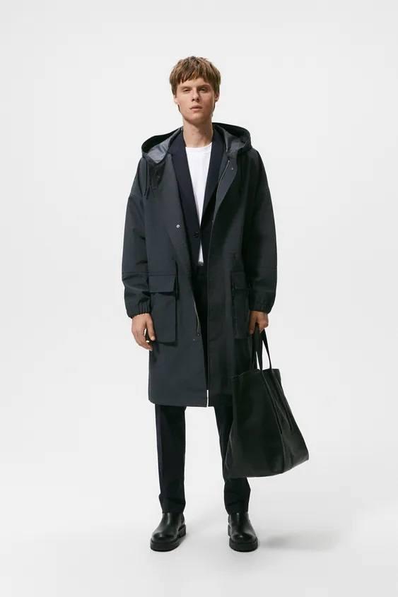 El catalogo de abrigos y chaquetas para hombre de zara parka oversize