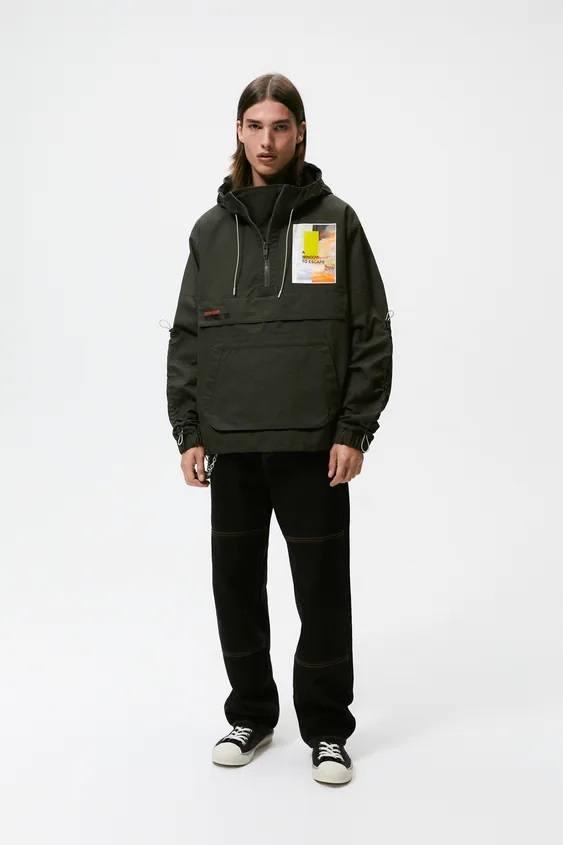 El catalogo de abrigos y chaquetas para hombre de zara parka parches