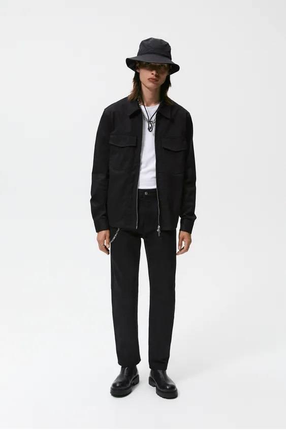 El catalogo de abrigos y chaquetas para hombre de zara sobrecamisa denim