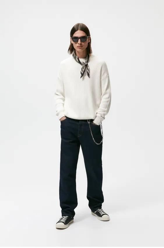 Los jerseis hombre zara algodon oversize crudo